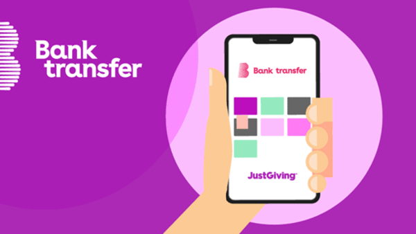 JustGiving - Pay with Bank transfer