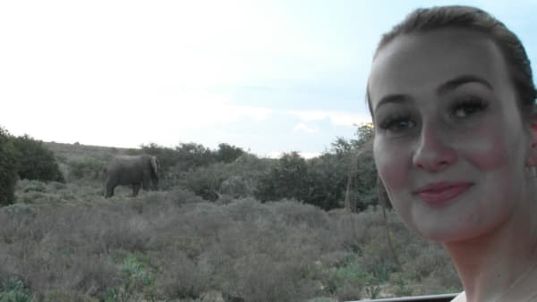 eve with the elephants
